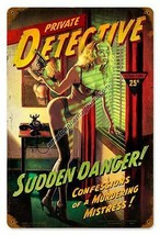 Private Detective Metal Sign ( Greg Hildebrandt ) - $29.95