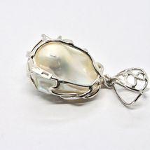 925 Silver Pendant Pearl White Baroque Handcrafted Unique Pendant image 5