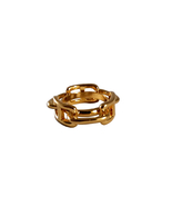 St. Germain Gold Chain Scarf Ring Buckle Luxury - $38.00