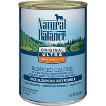 Natural Balance Original Ultra Whole Body Health Reduced Calorie Wet Dog Food, C - $43.82