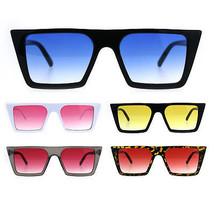 Womens Oceanic Color Squared Flat Top Goth Cat Eye Sunglasses - $9.95