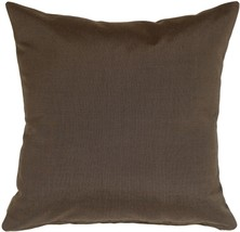 Pillow Decor - Sunbrella Coal Black 20x20 Outdoor Pillow - £30.60 GBP