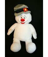 Build a Bear Workshop 18 in Frosty the Snowman Gray hat White Plush  - $35.00