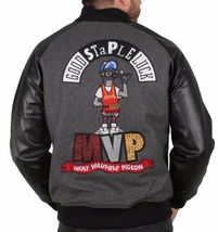 Staple New York MVP Most Valuable Pigeon Good Luck Wool Varsitity Jacket NWT image 3
