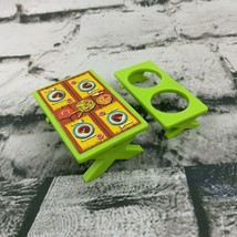 Vintage Fisher Price Little People Picnic Table W Bench Green - $14.84