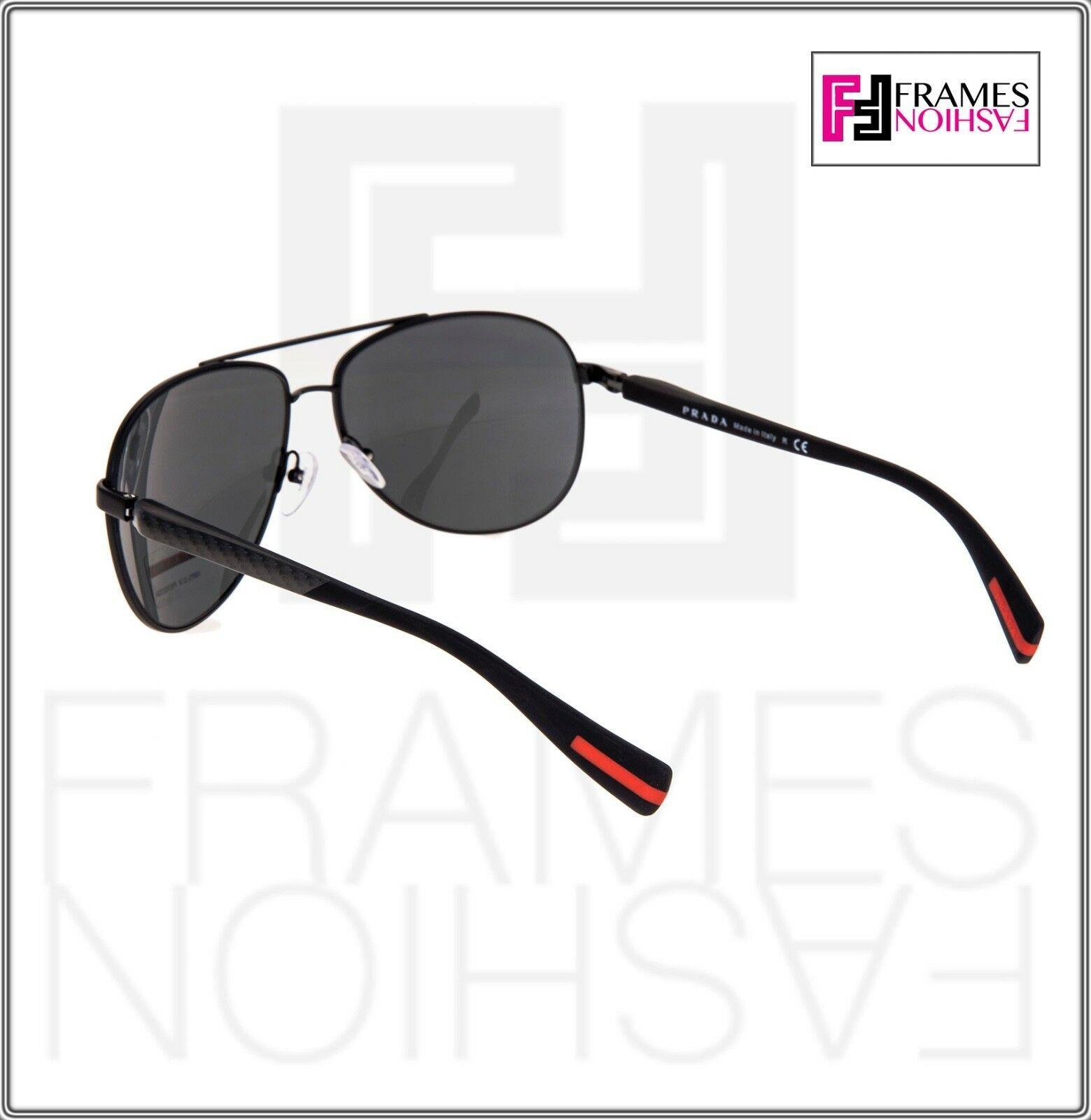 PRADA LINEA ROSSA NETEX PS51OS Black Aviator Sport Sunglasses SPS 51O Men image 3