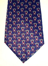 Looney Tunes Tasmanian Devil Tie Black Brown Red Covered in Screaming TD... - $17.30