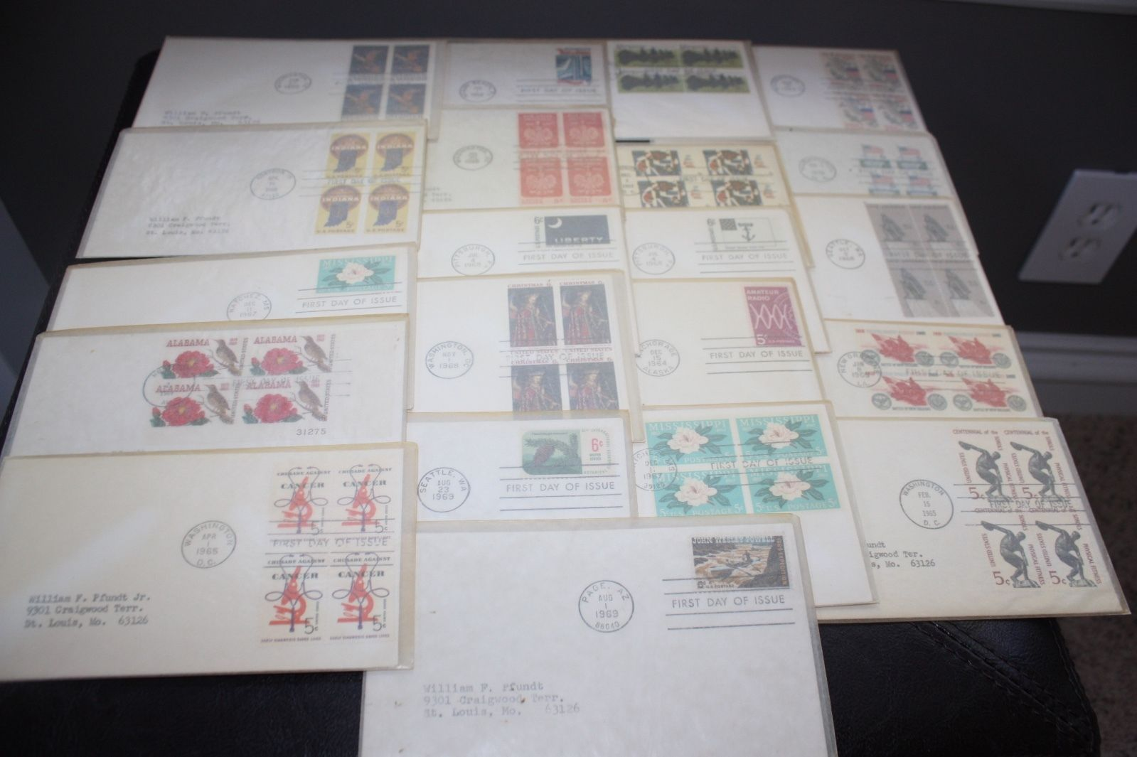 Lot of 119 First Day Issue Stamped Envelopes 1950-1970