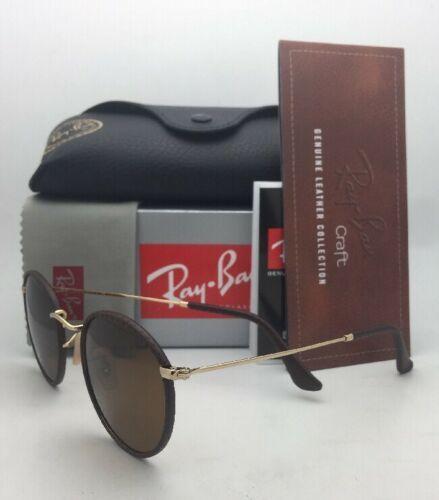 Nuevo Gafas de Sol Ray-Ban RB 3475-Q 9041 50-21 Cuero Marrón Marcos W/ Lentes
