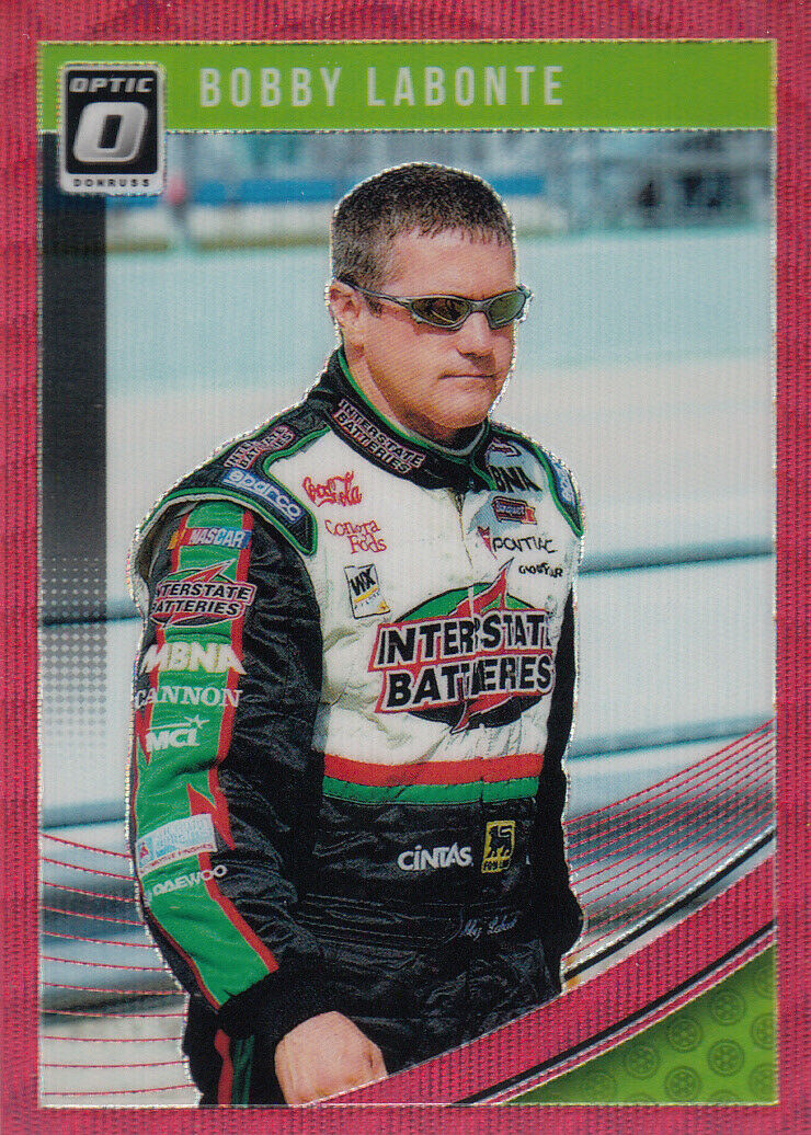 Bobby Labonte 2019 Donruss Optic Racing Red Wave Parallel Card #54
