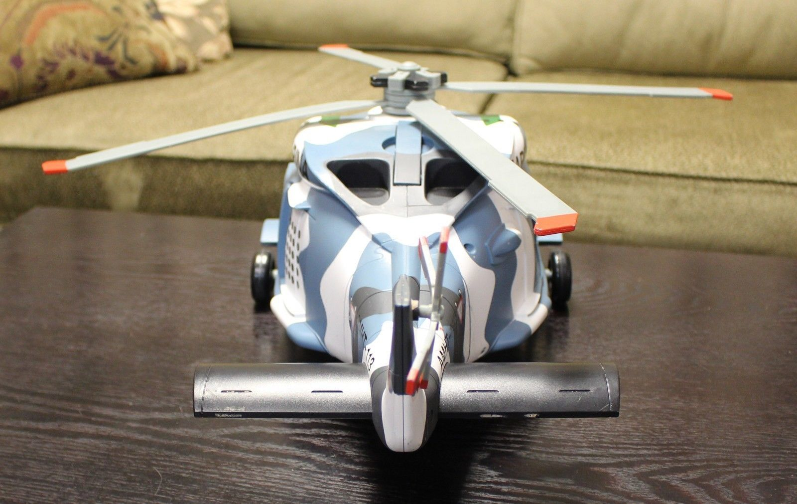"""Disney Store Planes Movie Big Hector Vector Marina Helicopter w/ Sounds 24"""" Long"""