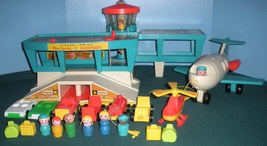 Vtg. Fisher Price Play Family #996 Airport Complete w/Box/EXC++-NEAR MIN... - $225.00