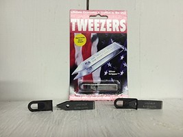 Sliver Gripper Black Oxide Uncle Bill's Key Chain Tweezers