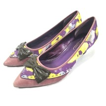 Poetic License Anthropologie Dear Diary Womens Size 10M Multi Color Heels - $27.98