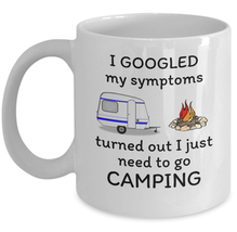 I just need to go Camping - funny camper RV gif campground fun coffee mug gift - $20.90