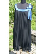 Robbie Bee 20W Dress 20 W Black Royal Blue Sleeveless Round Neck Womens ... - $22.23