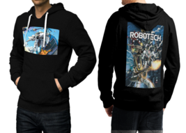Robotech  Black Cotton Hoodie For Men - $39.99