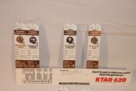 1988 SEASON NFL ARIZONA CARDINALS 4 UNUSED FOOTBALL TICKETS - $9.49