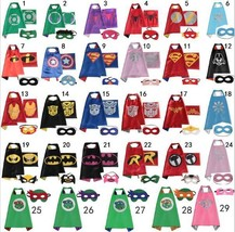 Superhero Cape 1 cape + 1 mask for Kids Birthday Party Halloween Batman ... - $6.99