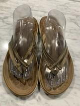 JBU Jambu Flip Flop Sandals Womens Size 11 Bronze Thong - $24.18