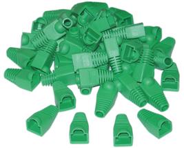 RJ45 Strain Relief Boots, Green, 50 Pieces Per Bag - $9.27