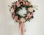Ath door hanging wall window decoration wreath holiday festival wedding decor 40cm thumb155 crop