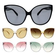 Womens Oversize Cat Eye Butterfly Diva Light Lens Designer Sunglasses - $13.32 CAD