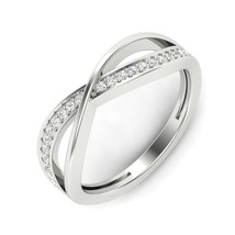 0.18 Ct Certified Natural Round Cut Diamonds Wedding Ring With 14k White... - $559.00