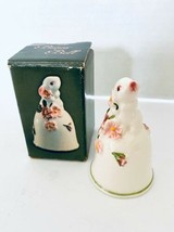 "MIB 1984 Avon Hand Painted Porcelain Bunny Rabbit Bell From Weiss Brazil 3"" - $7.72"