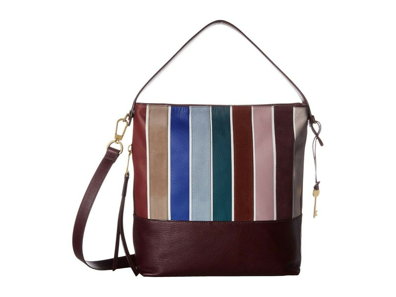 New Fossil Women's Maya Small Leather Hobo Bag Variety Colors image 10