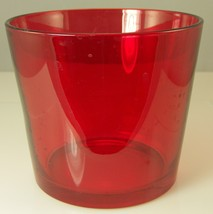 "Red Glass Ikea Bowl Christmas or Valentine's Day Decor 4.75"" tall x 5.5"" - $12.35"