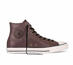 Converse All Star Chuck CT Hi 149481C Burnt Umber Leather Women Shoes - $79.95