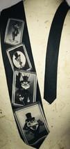 Vintage Bugs Bunny Rabbit Daffy Lonney Tunes Black White Picture Necktie... - $15.52