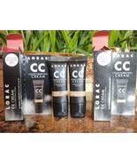 2 x LORAC CC CREAM Color Correcting Cream 6in1 Tinted Makeup MEDIUM 0.21... - $19.78