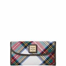 Dooney & Bourke Tartan Woven Fabric Wallet