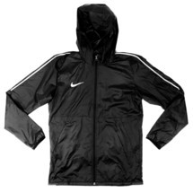 Nike Soccer Park 18 Rain Jacket Unisex Youth M Futbol Black Windbreaker ... - £19.00 GBP