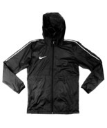 Nike Soccer Park 18 Rain Jacket Unisex Youth M Futbol Black Windbreaker ... - $26.13