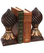 Bookends Bookend Swirl Knob Cast Resin New Hand-Painted - $169.00