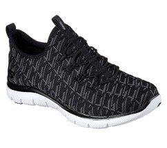 Women's Skechers Flex Appeal 2.0 - Insights Shoe, 12765 Bkcc Sizes 6.5-11 Blk/Ch - $62.95