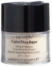 NEW Revlon ColorStay Aqua Mineral Makeup Powder SPF 13 in 010 Light (Sea... - $17.81