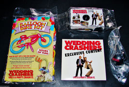 2005 WEDDING CRASHERS SET Promo DVD ROM, 35MM Camera, Balloons, Key Chai... - $14.49
