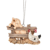 Pig & Hen Ornament - $12.95