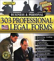 303 Professional Legal Forms [CD-ROM] Windows 98 / Windows 2000 / Window... - $54.46