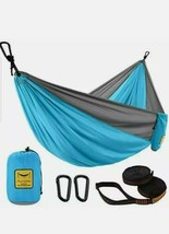 Puroma Camping Hammock Single & Double Portable Hammock Ultralight Nylon... - $32.71