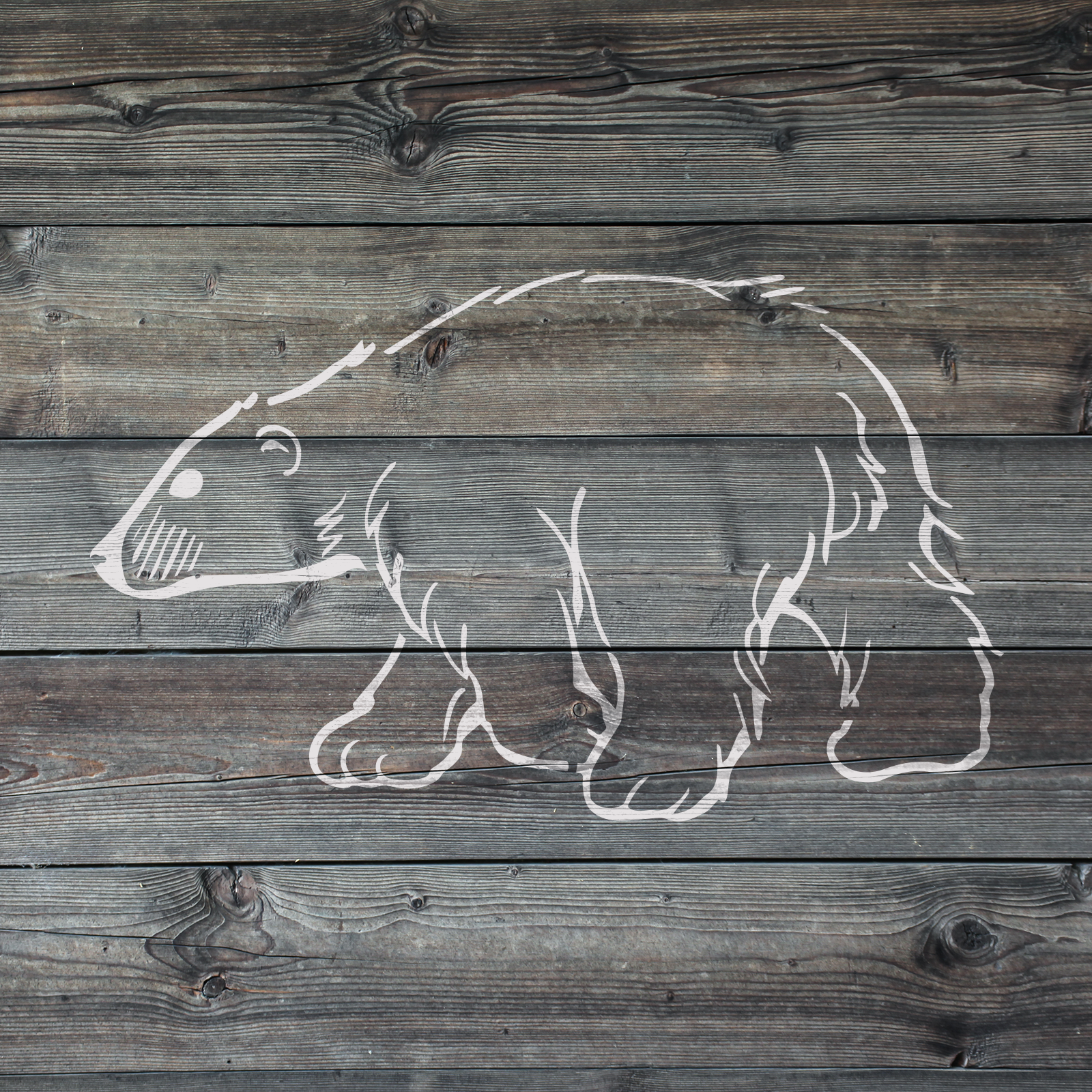 Polar Bear Stencil - Reusable Stencils of Polar Bear in Multiple Sizes