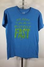 Nike T-Shirt Kein Rest für die Sündhaft Schnell Größe S S BLAU Regular Fit C35 - $32.66