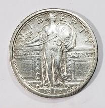 1917S Tyoe 1 STANDING LIBERTY QUARTER COIN Lot # MZ 4841