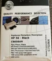 Commander HP 56 Ink Cartridge Deskjet Officejet Remanufactured BLACK Ink... - $10.30