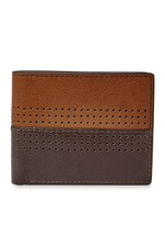 New Fossil Men's Leather Cody Bifold Flip Id Passcase Wallet Brown - $39.55