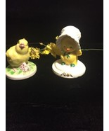 T M Korea Porcelain Chickens Figurines - $9.89